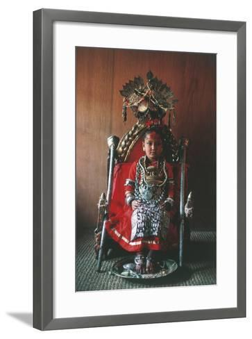 Patan, Kumari Princess, Katmandu Valley--Framed Art Print