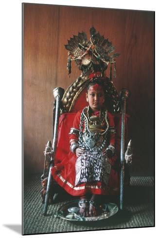 Patan, Kumari Princess, Katmandu Valley--Mounted Photographic Print