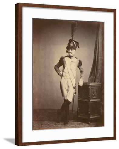 M. Vitry of the Departmental Guard, 1860--Framed Art Print