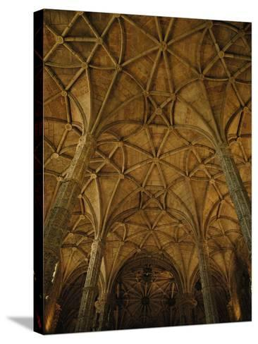 Portugal, Belem, Lisbon, Jeronimos Monastery, Interior--Stretched Canvas Print