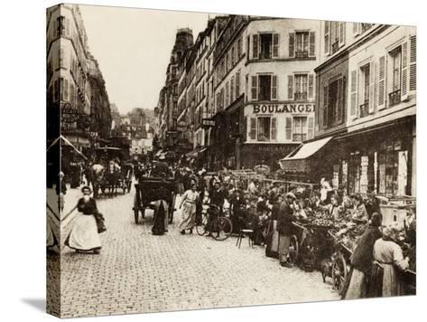 Rue Lepic, Montmartre, Paris, 1880--Stretched Canvas Print