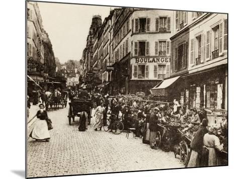 Rue Lepic, Montmartre, Paris, 1880--Mounted Photographic Print