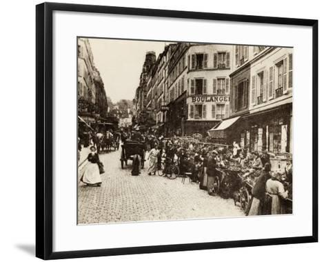 Rue Lepic, Montmartre, Paris, 1880--Framed Art Print