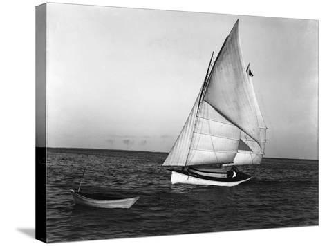 The Utilus Coming into Mooring Pier, C.1894--Stretched Canvas Print