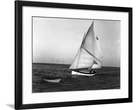 The Utilus Coming into Mooring Pier, C.1894--Framed Art Print