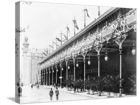 Palace of Diverse Industries, Side View, Paris Exposition, 1889--Stretched Canvas Print