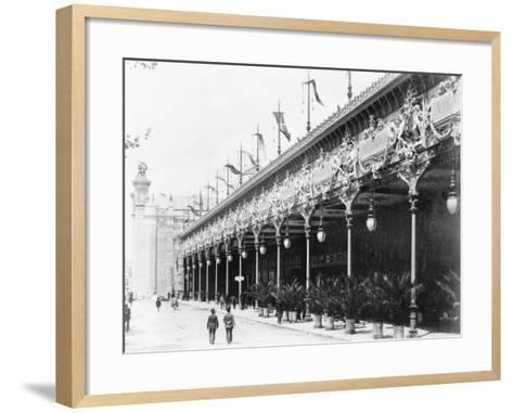 Palace of Diverse Industries, Side View, Paris Exposition, 1889--Framed Art Print