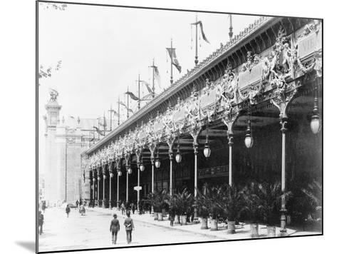 Palace of Diverse Industries, Side View, Paris Exposition, 1889--Mounted Photographic Print