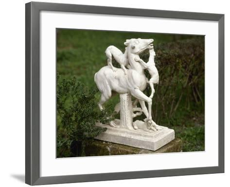 Statue of a Deer Chased by a Pack of Dogs Herculaneum--Framed Art Print