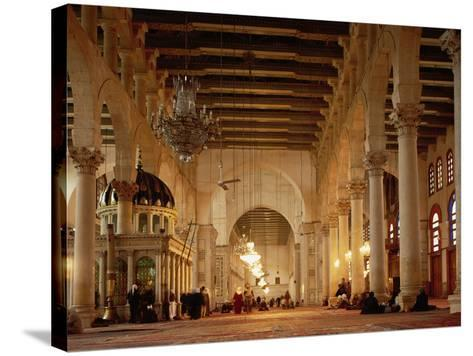 Syria, Great Mosque of Damascus, Interior--Stretched Canvas Print