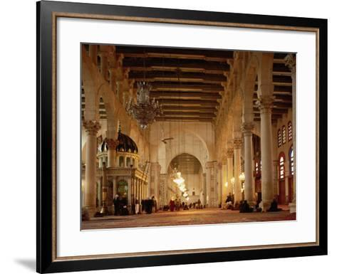 Syria, Great Mosque of Damascus, Interior--Framed Art Print