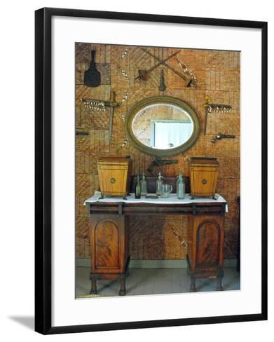 The Tapa Room, Villa Vailima, Apia, Samoa--Framed Art Print