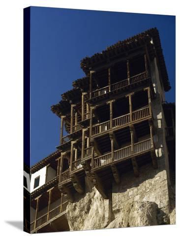 Spain, Castile-La Mancha, Cuenca, Hanging Houses, 15th Century--Stretched Canvas Print