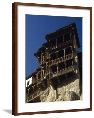 Spain, Castile-La Mancha, Cuenca, Hanging Houses, 15th Century--Framed Art Print