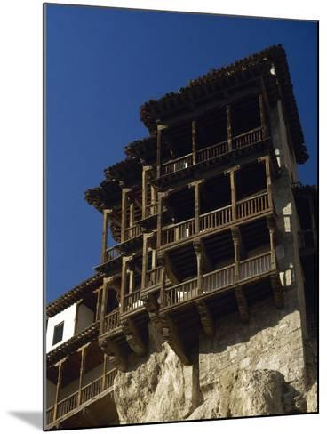 Spain, Castile-La Mancha, Cuenca, Hanging Houses, 15th Century--Mounted Photographic Print