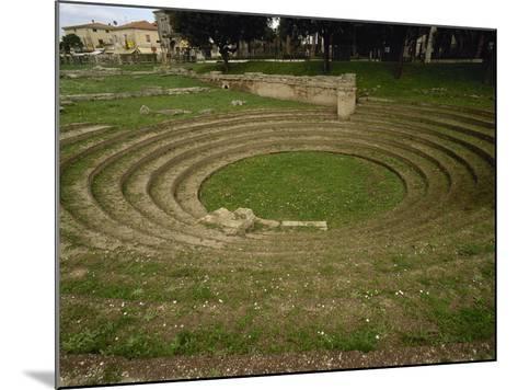Italy. Paestum. the Ekklesiasterion. 5th Century B.C--Mounted Photographic Print