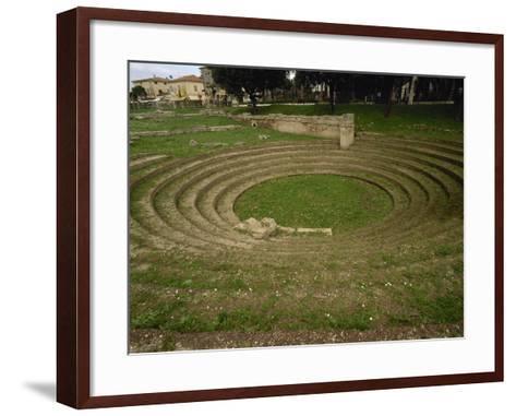 Italy. Paestum. the Ekklesiasterion. 5th Century B.C--Framed Art Print