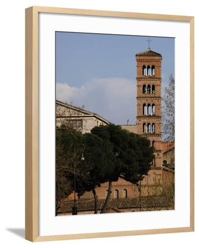 Rome, Basilica of Saint Mary in Cosmedin, Bell Tower--Framed Art Print
