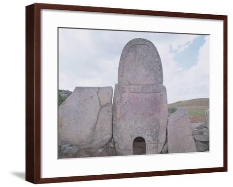 Tomba Di Gigante Di Coddu Vecchiu, Arzachena, Sardinia--Framed Art Print