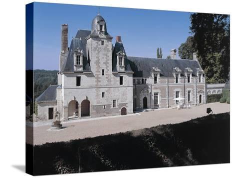 Facade of a Castle, Reugny. La Valliere Castle, Centre, France--Stretched Canvas Print