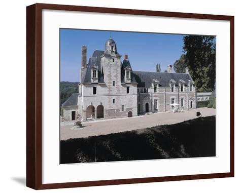 Facade of a Castle, Reugny. La Valliere Castle, Centre, France--Framed Art Print