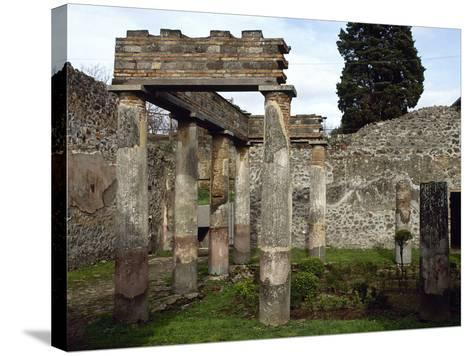 Italy, Pompeii, Villa of Diomedes, Atrium-Peristyle--Stretched Canvas Print