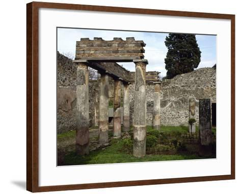 Italy, Pompeii, Villa of Diomedes, Atrium-Peristyle--Framed Art Print