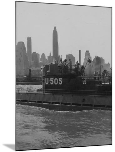 U.S.S. U-505 with Empire State Building--Mounted Photographic Print