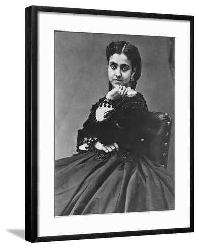 Adelina Patti--Framed Art Print