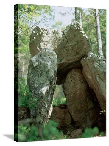 Spain, Dolmen of the Oliva, Neolithic, 2000-1500 BC--Stretched Canvas Print