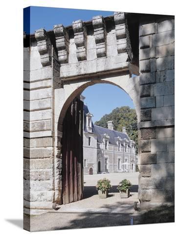 Gate of a Castle, Reugny, La Valliere Castle, Centre, France--Stretched Canvas Print