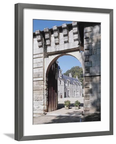 Gate of a Castle, Reugny, La Valliere Castle, Centre, France--Framed Art Print