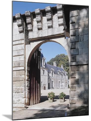 Gate of a Castle, Reugny, La Valliere Castle, Centre, France--Mounted Photographic Print