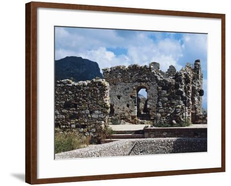 Ruins of Norman Castle of Castelmola, Sicily, Italy--Framed Art Print