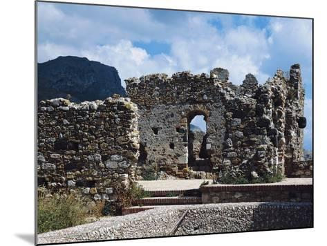 Ruins of Norman Castle of Castelmola, Sicily, Italy--Mounted Photographic Print
