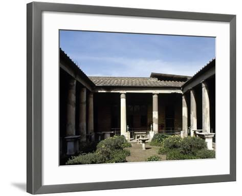 Italy, Pompeii, House of the Vettii, Reconstruction of the Peristyle--Framed Art Print