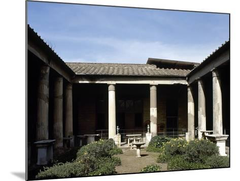 Italy, Pompeii, House of the Vettii, Reconstruction of the Peristyle--Mounted Photographic Print