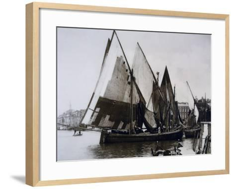 Boats known as Bragozzi, Chioggia, Italy, Early 20th Century--Framed Art Print