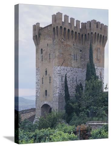 Low Angle View of a Fort, St. Angelo, Perugia, Umbria, Italy--Stretched Canvas Print