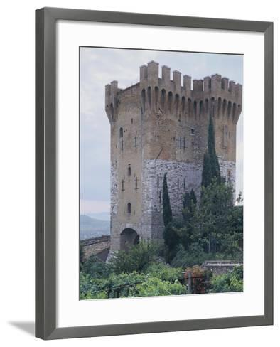 Low Angle View of a Fort, St. Angelo, Perugia, Umbria, Italy--Framed Art Print