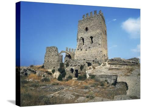 Ruins of Castle in Cefala Diana, 13th Century, Sicily, Italy--Stretched Canvas Print