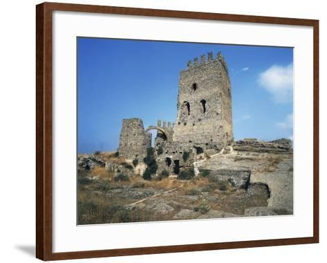 Ruins of Castle in Cefala Diana, 13th Century, Sicily, Italy--Framed Art Print