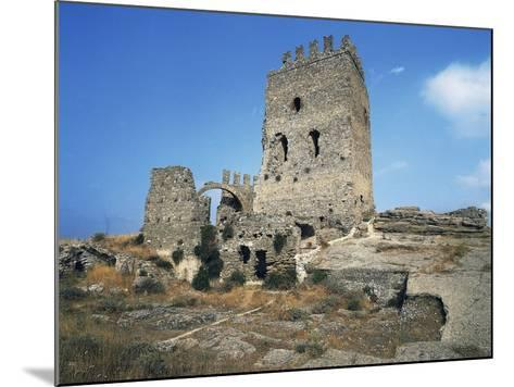 Ruins of Castle in Cefala Diana, 13th Century, Sicily, Italy--Mounted Photographic Print