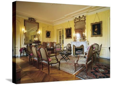 Room in Chateau of Vaurenard, Rhone-Alpes, France--Stretched Canvas Print