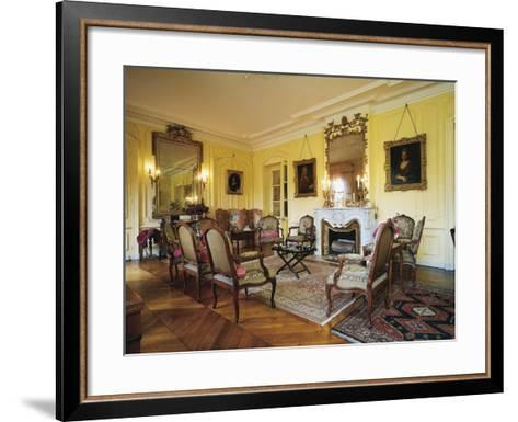 Room in Chateau of Vaurenard, Rhone-Alpes, France--Framed Art Print