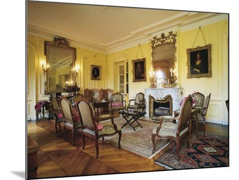 Room in Chateau of Vaurenard, Rhone-Alpes, France--Mounted Photographic Print