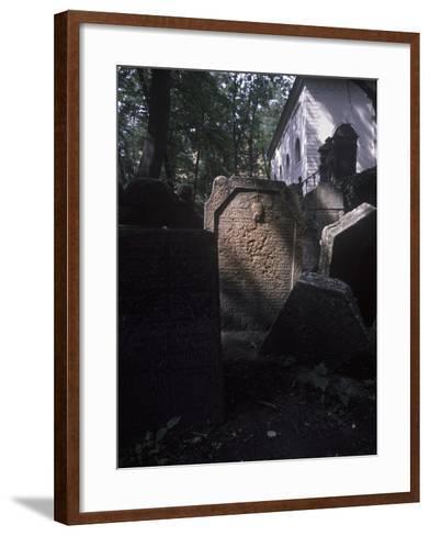 Old Jewish Cemetery, Prague, Czech Republic--Framed Art Print