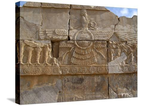 Relief Depicting the God Ahuramazda, Palace of King Darius, Persepolis--Stretched Canvas Print