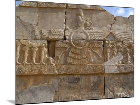 Relief Depicting the God Ahuramazda, Palace of King Darius, Persepolis--Mounted Photographic Print