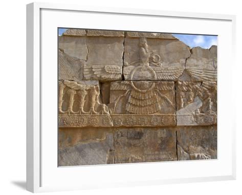 Relief Depicting the God Ahuramazda, Palace of King Darius, Persepolis--Framed Art Print